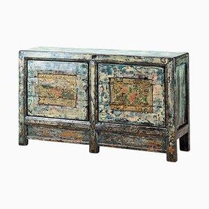 Pale Blue Painted Gansu Sideboard