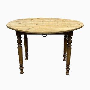 Runder Tisch aus Tannenholz, 1900er
