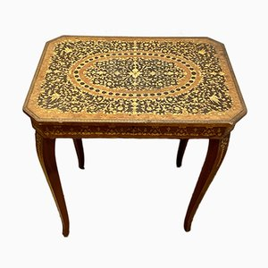 Table from Artisanal School in Sorrento, Naples, Late 19th Century