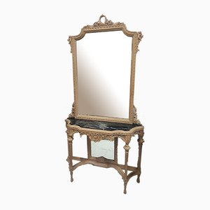 Rocaille Style Console & Mirror Set