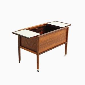Mueble bar danés de palisandro de Dyrlund, años 60