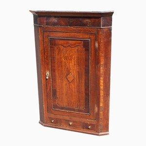 Oak Corner Cupboard with Crossbanding,1900s