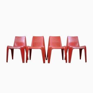 Fiberglas BA 1171 Stühle von Helmut Bätzner für Bofinger, 4er Set