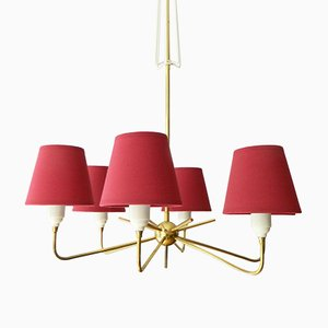 Ceiling Lamp with Central Brass Ball by Rupert Nikoll
