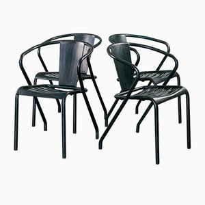 Vintage FT5 Chairs by Xavier Pauchard for Tolix, Set of 4