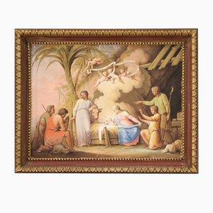 Antike Religiöse Malerei, Anbetung der Hirten, 19. Jahrhundert