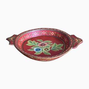 Large Scandinavian Painted Wooden Bowl