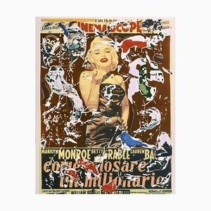Mimmo Rotella, How to Marry a Millionaire, Silkscreen and Collage