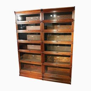 Bücherregal aus Mahagoni von Globe Wernicke, 12er Set