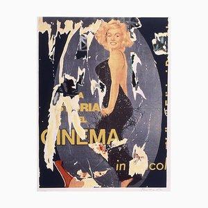 Mimmo Rotella, Die Geschichte des Kinos, Siebdruck und Collage