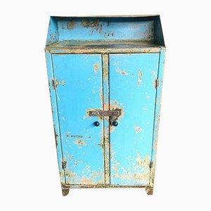 Industrial Blue Steel Cabinet