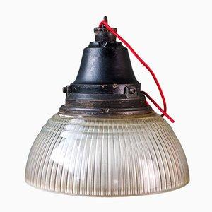 Industrielle Vintage Deckenlampe von Holophane