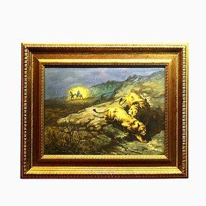 Peinture Paysage avec Figures par Giuseppe Bongiovanni