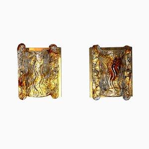 Murano Glass Sconces by Carlo Nason for Mazzega, 1960s, Set of 2