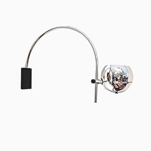 Space Age Chrome Arc Wall Lamp from Gepo, 1960s