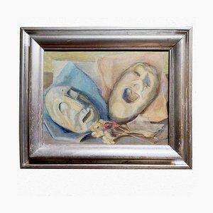 Maschere, Alfredo Bortoluzzi, Gemälde