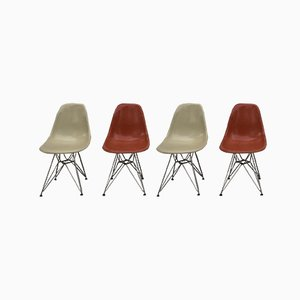 DSR Chairs by Charles & Ray Eames for Herman Miller, 1950s, Set of 4