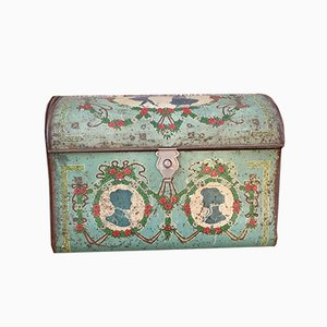 Bohemian Lithographed Metal Chest