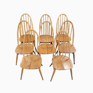 Windsor Quaker Dining Chairs & 2 Carver Chairs by Lucian Ercolani for Ercol, Set of 8