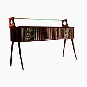 Walnut Credenza or Sideboard by Ico Parisi, Italy, 1950s