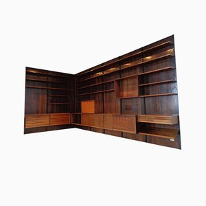 Large Danish Rosewood Modular Royal Wall Unit by Poul Cadovius for Cado, 1960s, Set of 55
