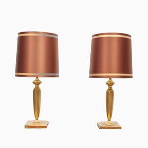 Brass Table Lamps from Herda, Holland, 1970s, Set of 2