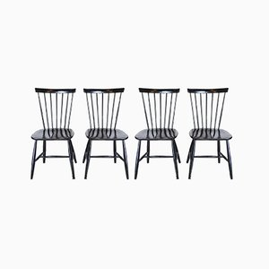 Scandinavian Wooden Dining Chairs from Hagafors, 1960s, Set of 4