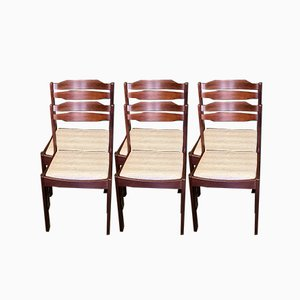 Vintage Wengé Dining Chairs, 1960s, Set of 6