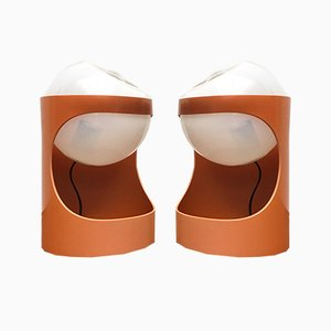 Mid-Century Swiss Space Age Guggerli L1 Table Lamp by Rosemarie & Rico Baltensweiler for Baltensweiler, Set of 2