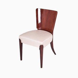 Restored Czech Art Deco Mahogany Chair by Jindrich Halabala for UP Závody, 1940s