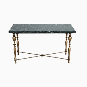 Vintage Italian Marble and Brass Coffee Table, 1950s