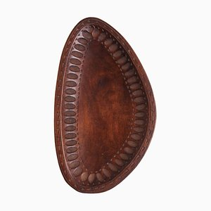 Mid-Century Schale aus geschnitztem Holz