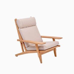 Mid-Century Modern Danish GE 375 Easy Chair by Hans J. Wegner for Getama