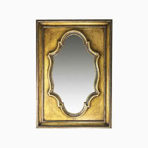 Vintage Lacquered Wood Mirror