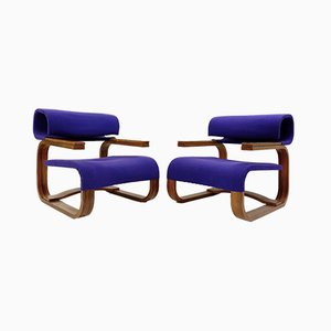 Armchairs by Jan Bocan for Thonet, Stockholm, 1972, Set of 2