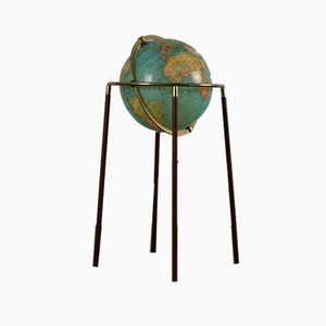 Globus mit Füßen aus Palisander, 1960er