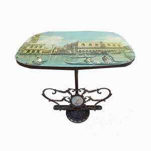 Italian Brass Table with Image