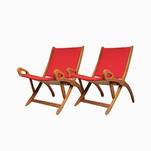 Folding Lily Armchairs by Gio Ponti for Fratelli Reguitti, 1960s, Set of 2