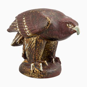 Limited Edition Stoneware Sea Eagle for the Benefit of WWF by Lisa Larson for Gustavsberg, 1976