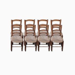 Mulchstühle im Stil von Charlotte Perriand, 1050er, 8er Set