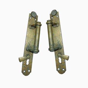 Pre-War Brass Handles for Sliding Doors