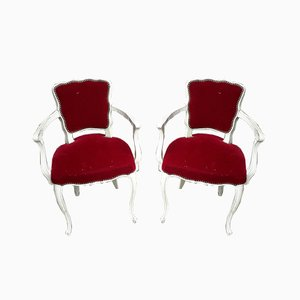 Louis XV Cabriolet Armchairs, Set of 2