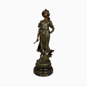 Statue Art Nouveau Antimony par Ranieri