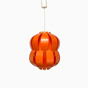 Mid-Century Modern Danish Orange Plastic Lamp from Room Light, 1960s