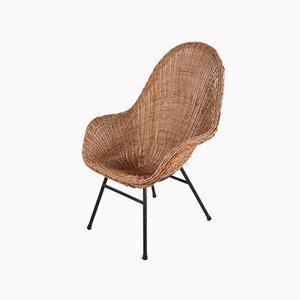 Rattan Lounge Chair by Dirk Van Sliedregt for Rohé Noordwolde