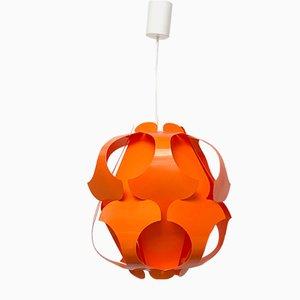 Mid-Century Modern Danish Orange Plastic Big Lily Pendant Lamp, 1960s