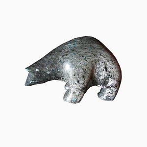 Speckstein Skulptur eines Eisbären von Ross Parkinson