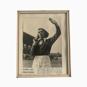 Italian September Sports Photos with Frame, 1940s, Set of 10