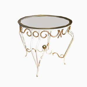 Vergoldeter Beistelltisch aus Schmiedeeisen im Stil von René Prou, 1930