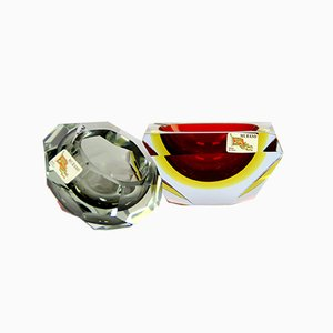 Vaciabolsillos Game Ashtrays or Murano Glasses by Luigi Mandruzzato, Set of 2